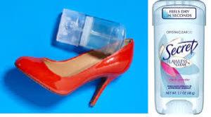 gel deodrant to make heels more comfortable