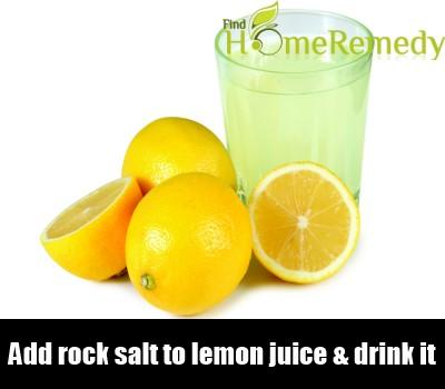 Lemon Juice with Rock Salt