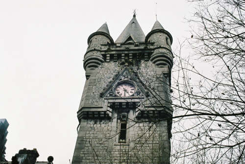 Chateau Miranda Clock tower of the Castle