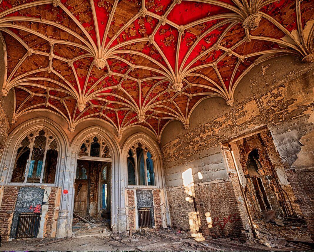 Interior of the castle Chateau Miranda