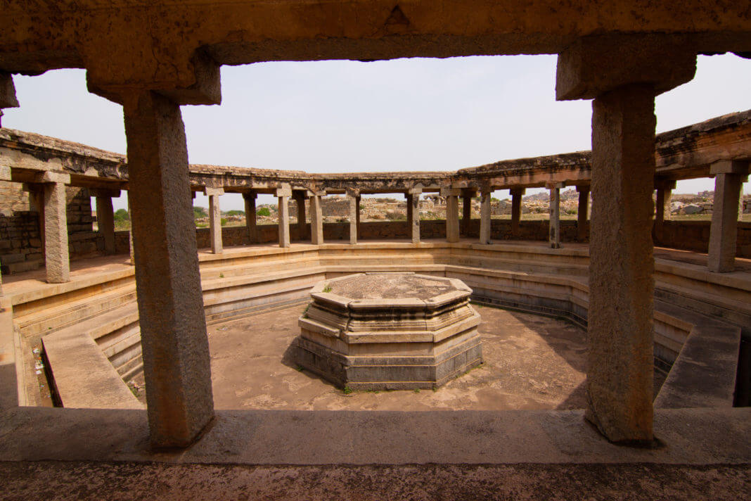 Octagonal Bath in Hampi