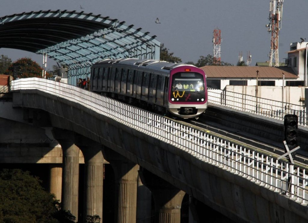 Metro ride in bangalore