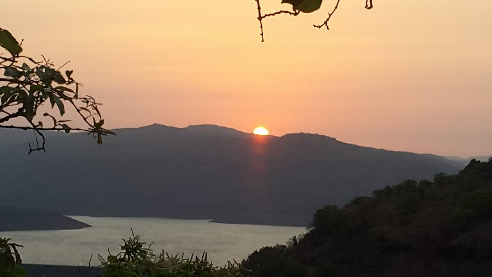 Sunset view from Chandoli national park