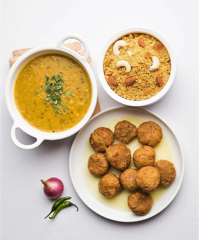 Famous Food Rajasthan Dal Bhati Churma