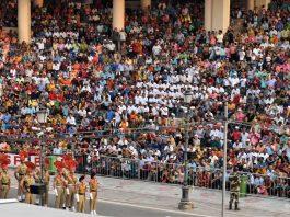 wagah border parade