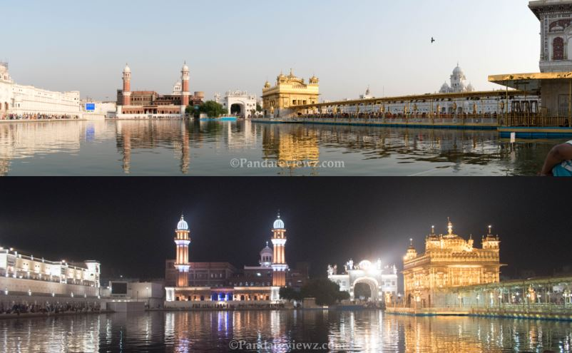 Golden Temple View Day and Night