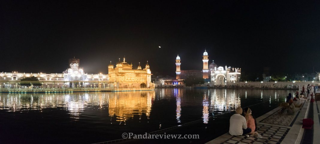 A view of Golden Temple at Night