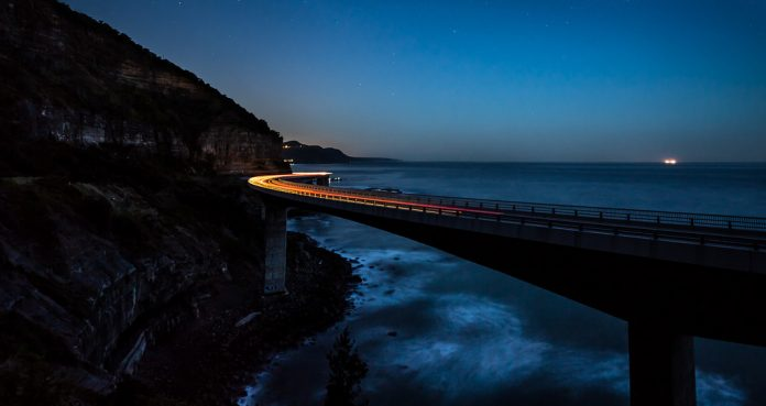 Grand pacific drive at night