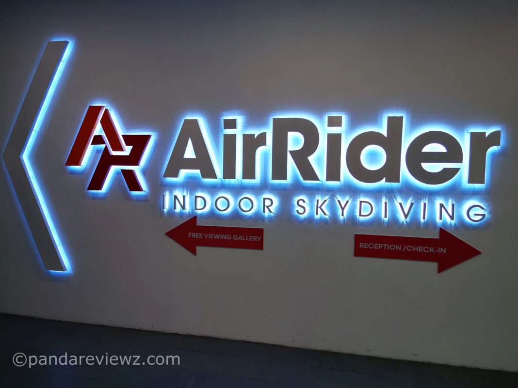 air rider indoor skydiving 1 utama mall