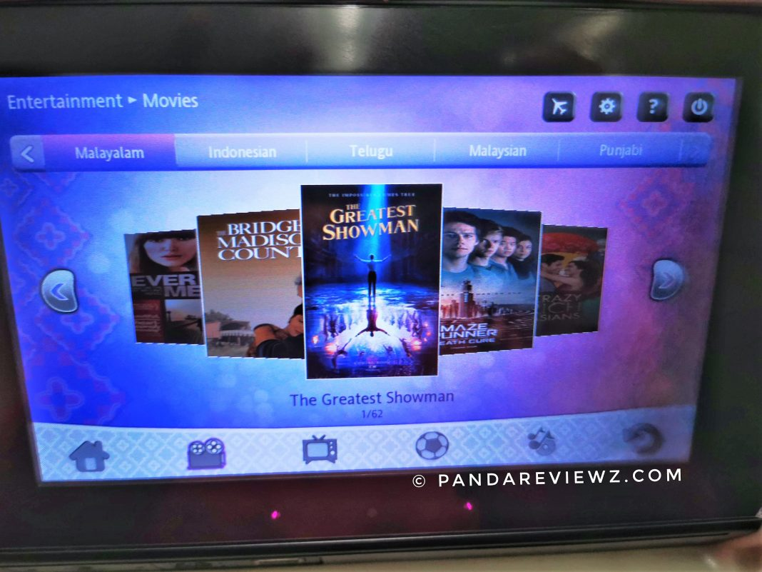 malindo inflight entertainment review