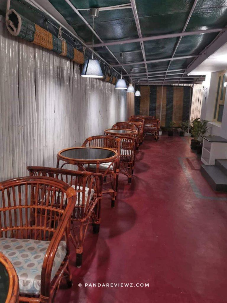 ambiance of verandah cafe vijayawada