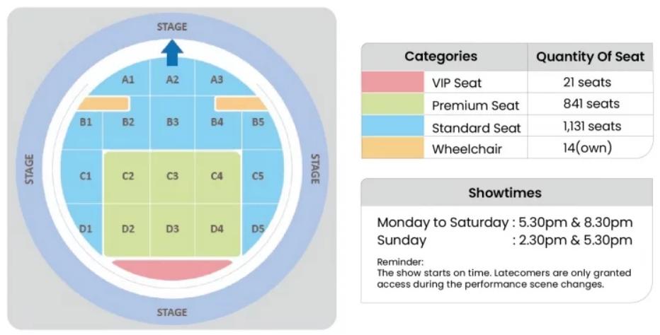 seating and tickets encore melaka
